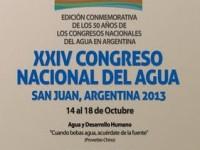 XXIV Congreso Nacional del Agua – CONAGUA – 2013
